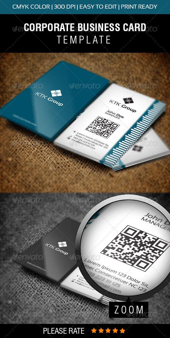 KTK Group Business Card #GraphicRiver | Print Templates | Pinterest ...