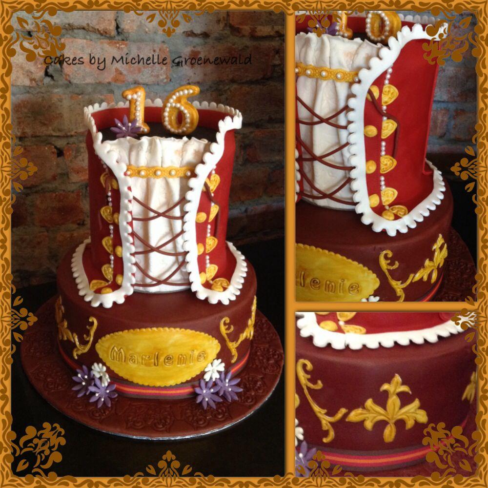 Corset medieval cake