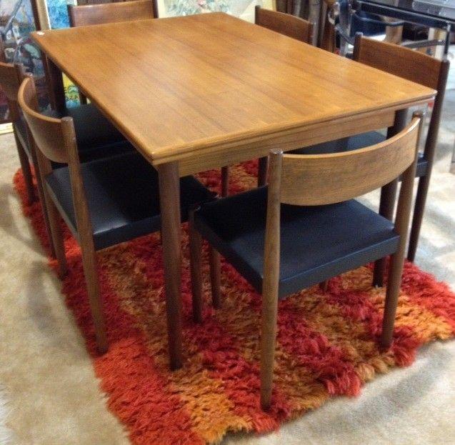 Mid Century Modern Danish Teak Dining Table $1200 - Chicago http://furnishly.com/mid-century-modern-danish-teak-dining-table-chairs.html