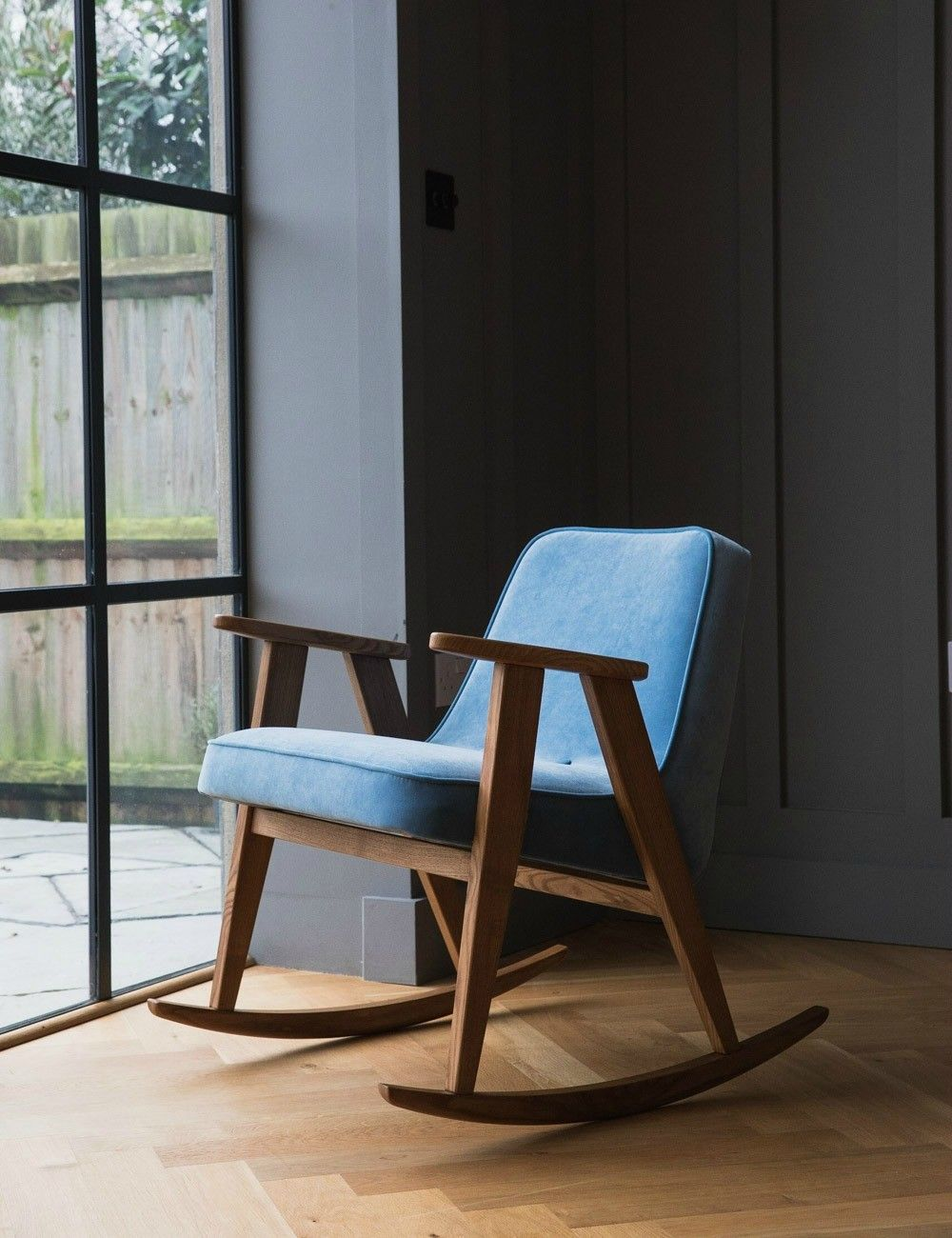 Jozef Chierowski 366 Rocking Chair Velvet Nine Colours Available  # Muebles Wendy Manta