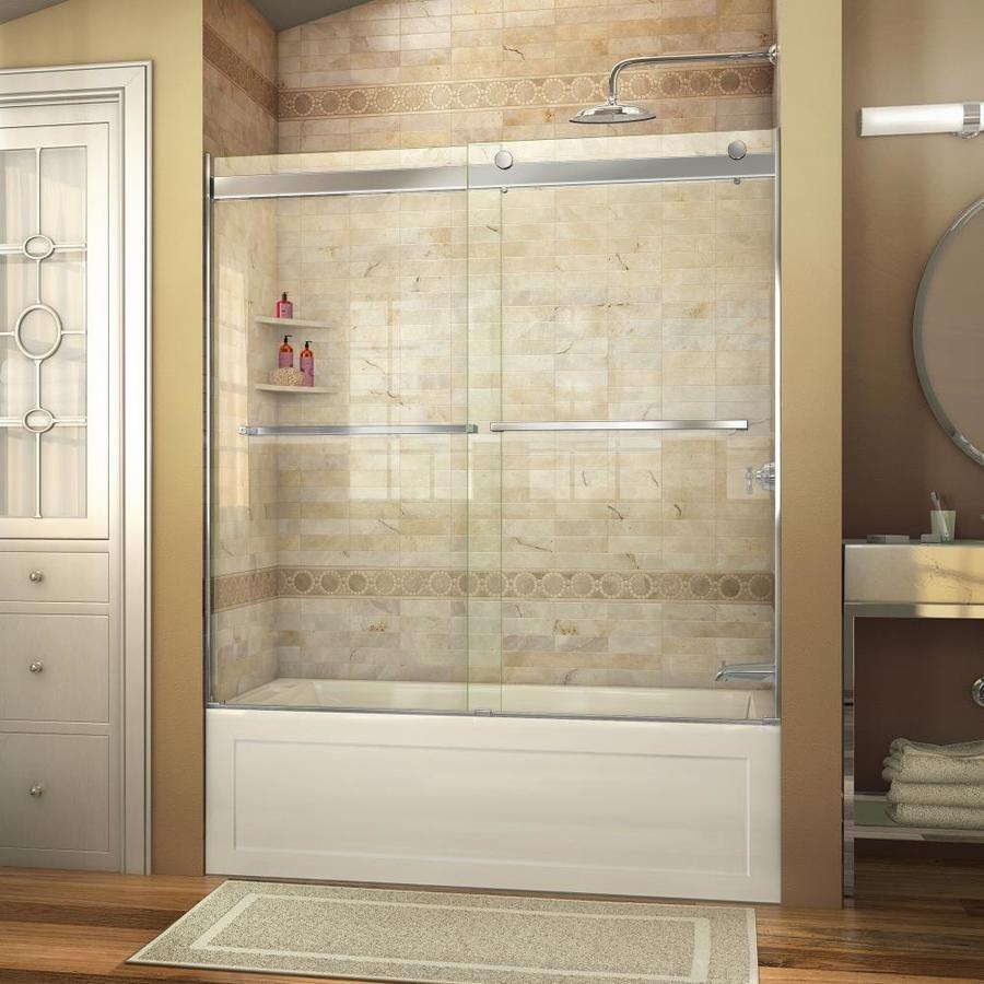 Dreamline Essence 56-In To 60-In W Frameless Chrome Sliding Shower ...