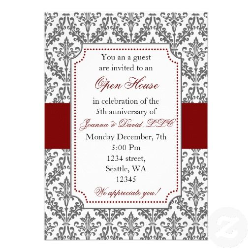 Elegant Corporate Party Invitation  Business Open House