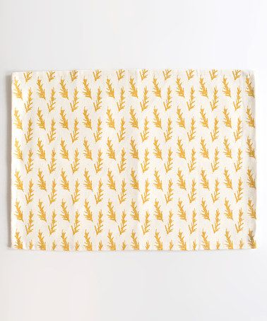 Take a look at this Mustard Rosemary Place Mat - Set of Four by chewing the cud on #zulily today! $27 !!
