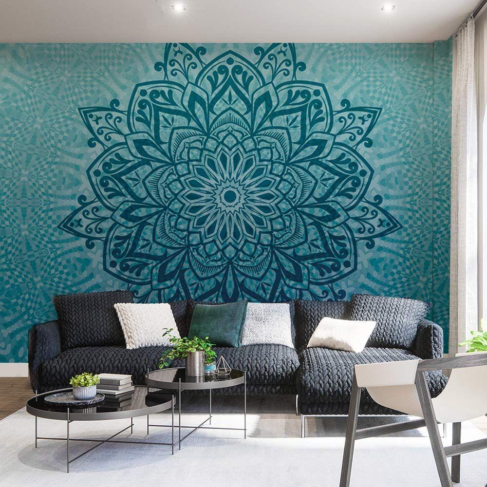 Boho Decor Wall Murals Bedroom Living Room Murals Teal Li