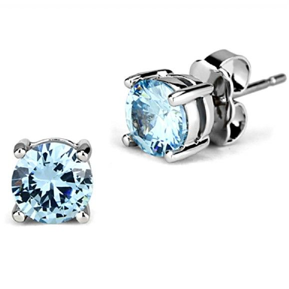 okajewelry ball blue silver sliver sterling light crystal com image stu stud earrings post