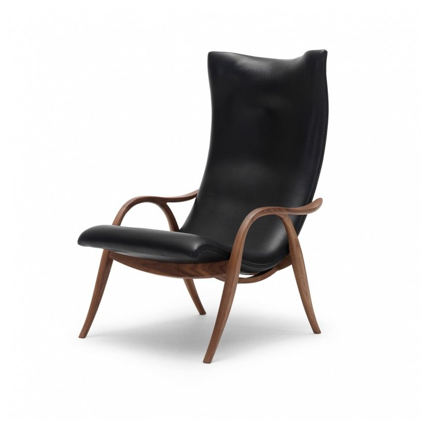 Fh429 signature chair oiled walnut chair upholstered