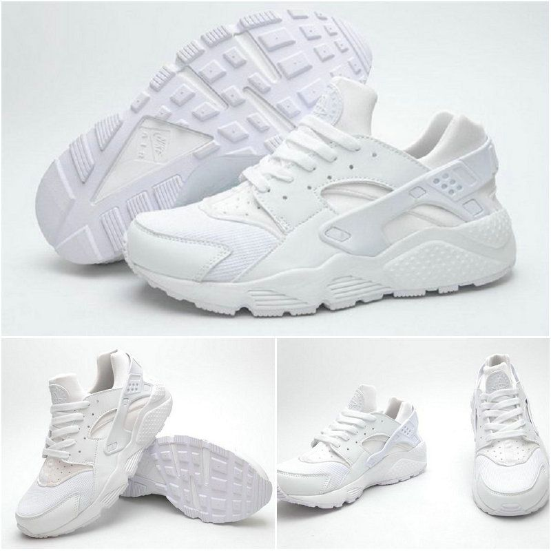 cd7f17b19327 Best Modem Huaraches 2016 Latest Running Shoes Male and Female Nike Air  Huarache Triple White 36-44 Clearance