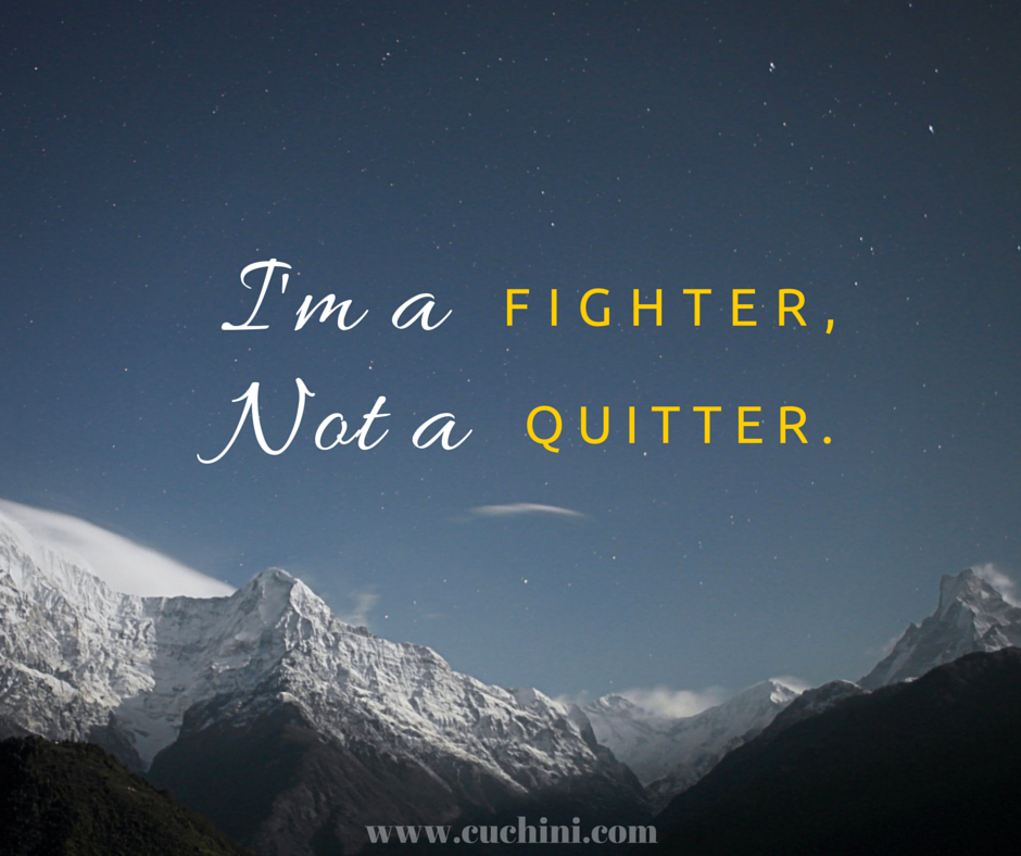 Im A Fighter Not A Quitter Quotes Quotes