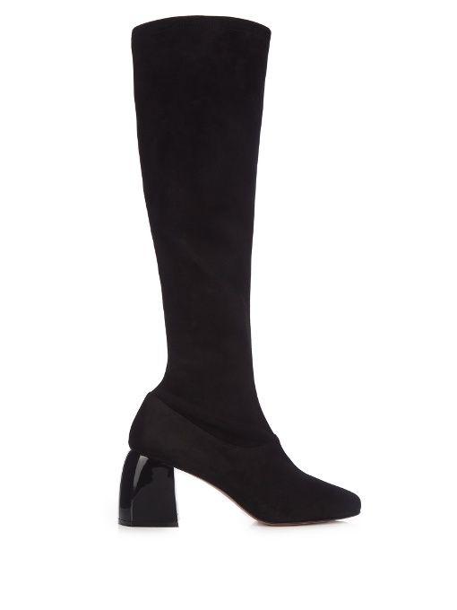 exclusive sale online clearance online official site SportMax Suede Knee-High Boots VOR7jXL