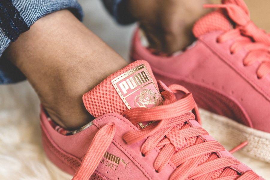 Puma x CAREAUX Suede (pink weiß) 362307 01   Puma