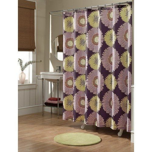 M Style Sunflowers Shower Curtain Walmart With Images Purple Shower Curtain Fabric Shower Curtains Curtains