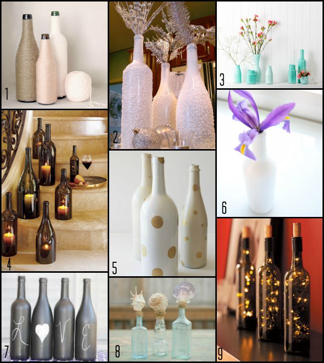 Liquor Bottle Centerpieces: DIY Wednesday: Bottle Centerpieces