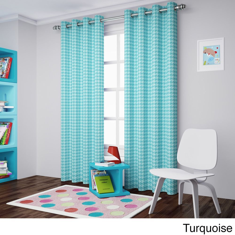 Eclipse Bexley Window Curtain Panel Turquoise 84 Blue Size Inches