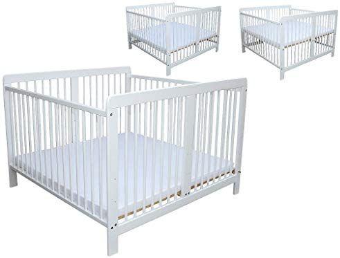 Zwillingsbett Zwillingskinderbett Kinderbett Fur Zwillinge Massiv Weiss Mit 2 Matratzen 120x120cm Amazon De In 2020 Kinderbett Fur Zwillinge Kinder Bett Zwillingsbett