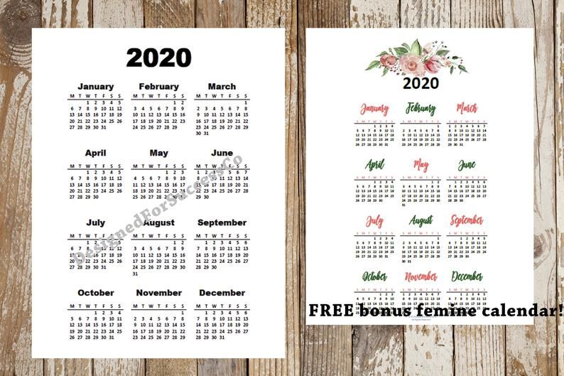 2019 2020 2021 Printable Calendar Year At A Glance A4 Image 1 Printable Yearly Calendar Inspirational Printables Yearly Calendar