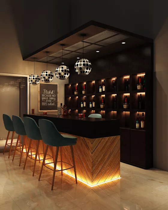 10 Perfect Home Bar Designs For Indian Homes Home Bar Designs