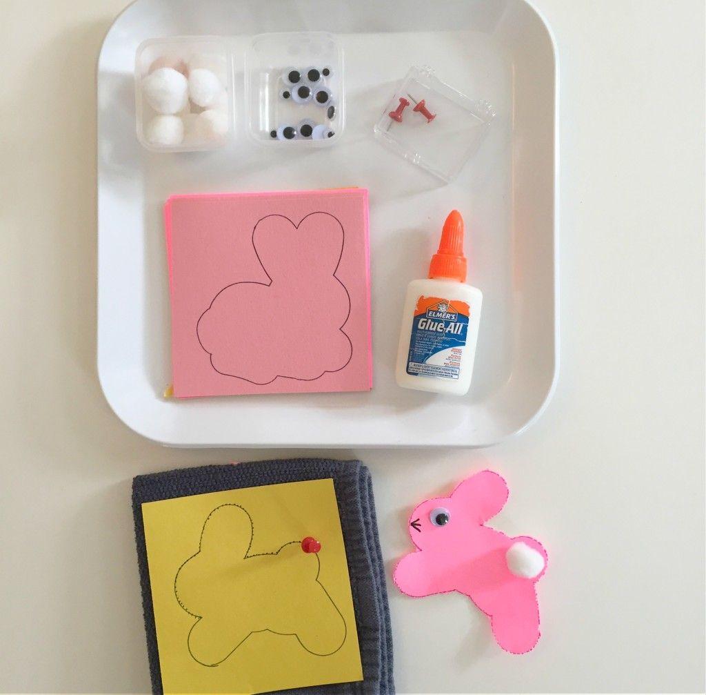 Rabbit poking - Easter Activity in the Preschool Classroom