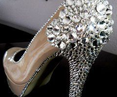 Shattered Dreams Crystal Pumps by Shuacyde on Etsy, $125.00