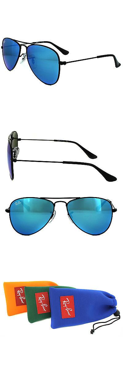c7dc656c56e Sunglasses 131411  Ray-Ban Junior Sunglasses 9506 201 55 Black Blue Flash  Mirror -  BUY IT NOW ONLY   72 on eBay!
