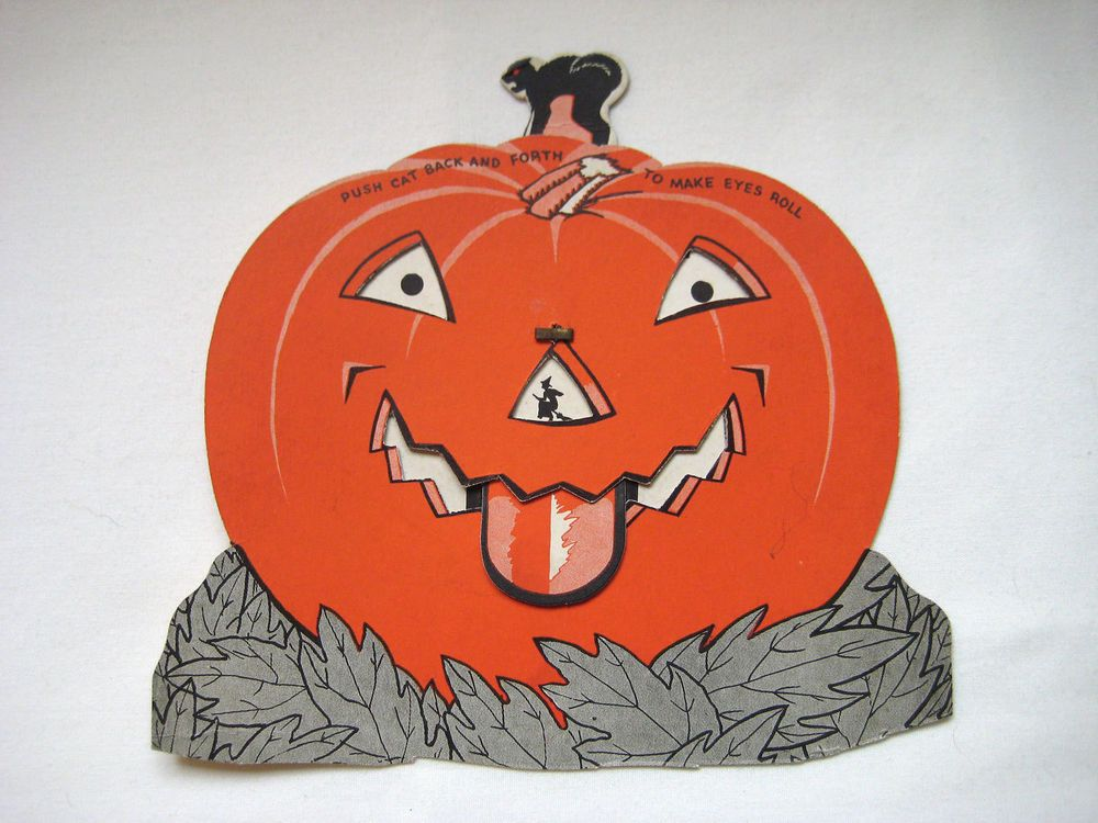 vintage halloween jack ou0027lantern decoration u0027push the