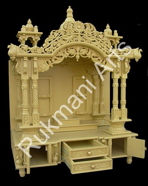 Wooden Carved Teakwood Temple Mandir Wooden Temple Puja Room