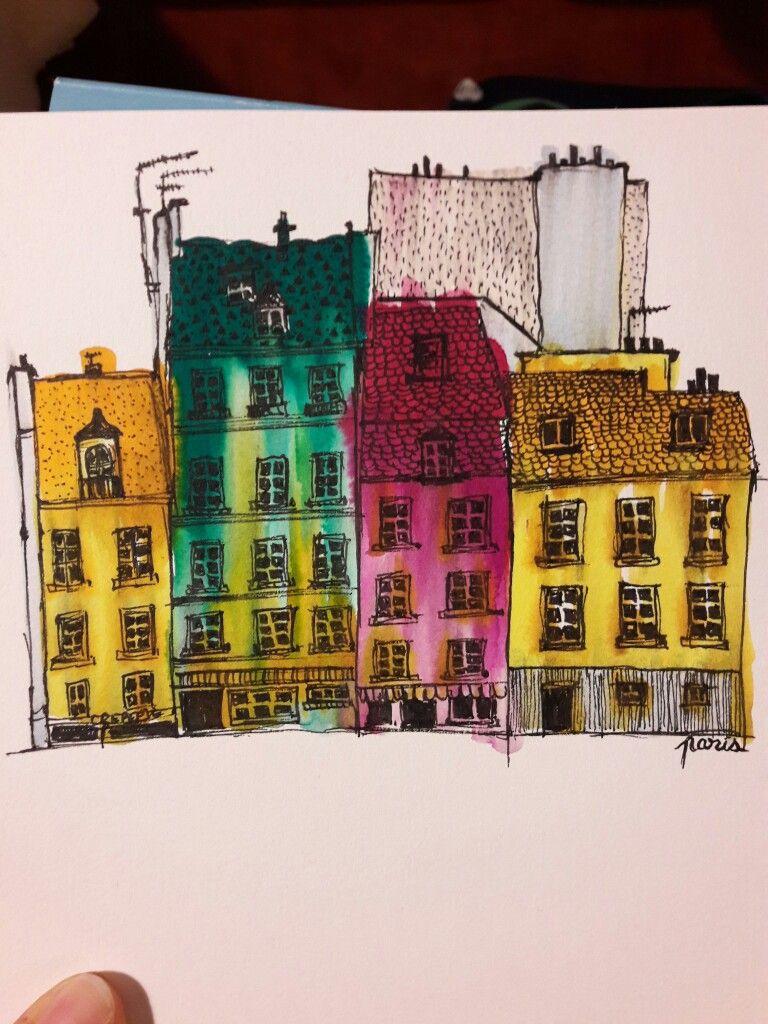 "serie of houses ""Paris"""