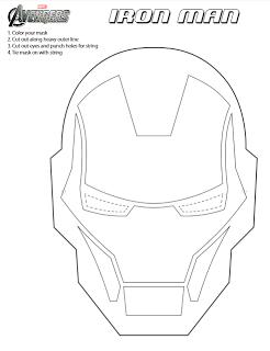 Printable Iron Man Mask To Color Ironman3event Jinxy Kids Mascara De Iron Man Iron Man Para Colorear Tartas Ironman