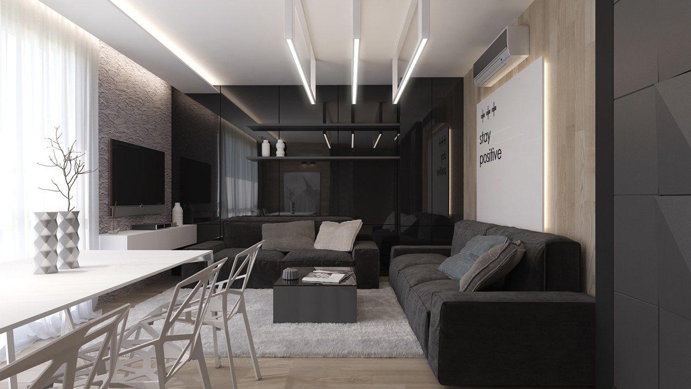 appealing black living room interior designs | Crni dnevni boravak – ideje i inspiracija | Uređenje doma ...