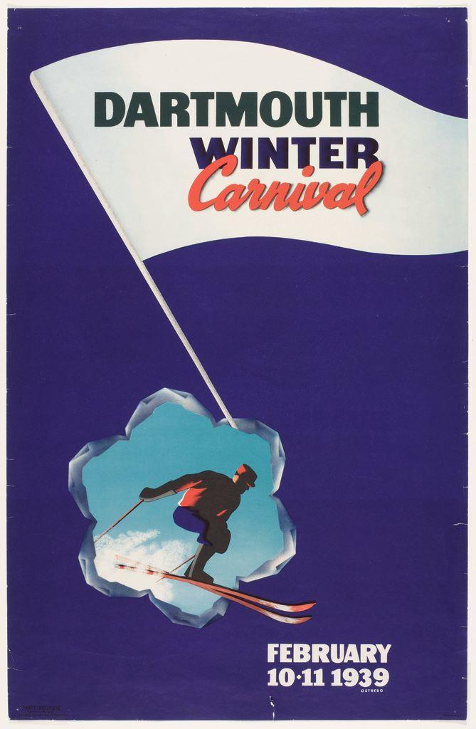 DARTMOUTH Winter Carnival Ski Sport New Hampshire Fine Poster Repro FREE S//H