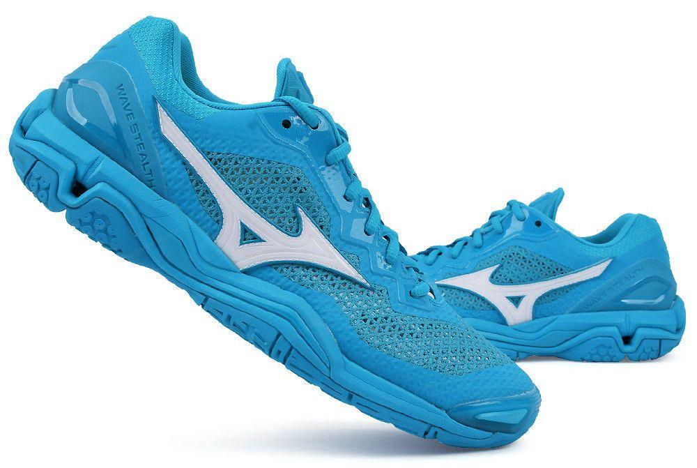 Mizuno Stealth 5 Handball Shoes Badminton Shoes Unisex Indoor Blue Racquet Nwt Mizuno Badminton Shoes Purple Backpack Badminton