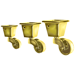 Square Cup Casters For Furniture