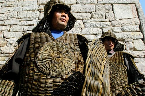 Chinese harden vine armour | Straw bag, Military history, Armor