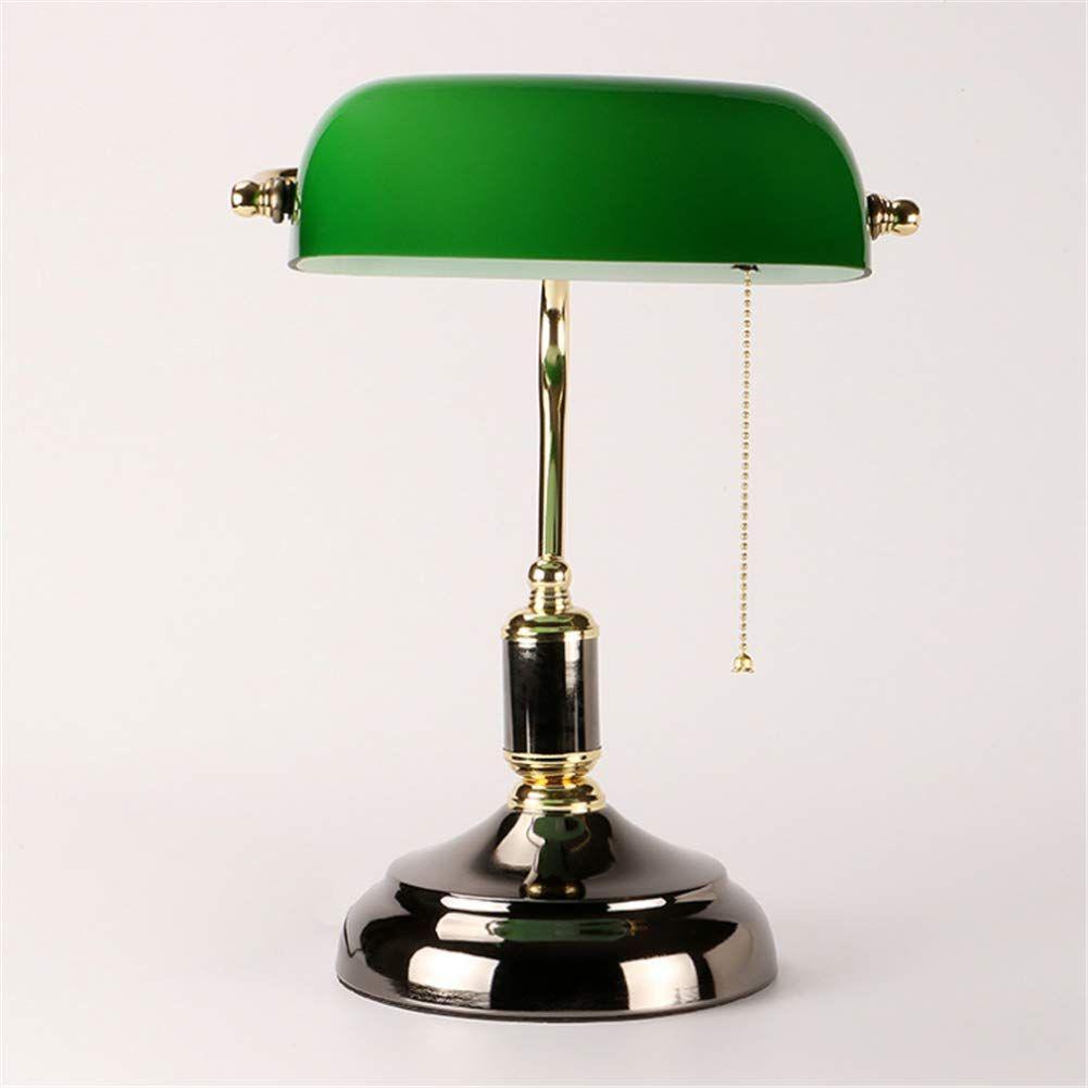 Bankers Desk Lamp Glass Shade In 2020 Glass Lamp Bankers Desk Lamp Lamp