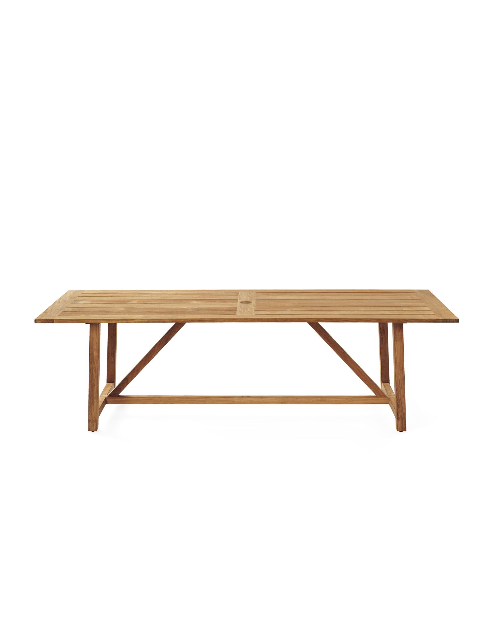 Crosby teak outdoor dining tablecrosby teak outdoor dining table
