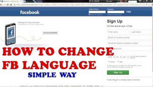How To Change Your Facebook Language 2020 Change Language On Facebook Change Language Language Change