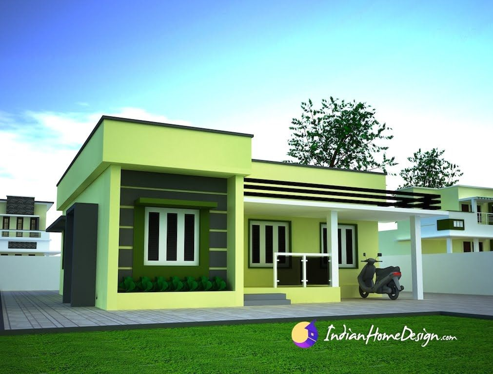 Small single floor simple home design niyas plans sketchup for Simple house elevation models