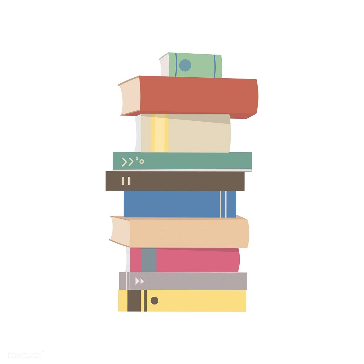 Stack Of Books Graphic Illustration Free Image By Rawpixel Com Graphic Illustration Stack Of Books Vector Free