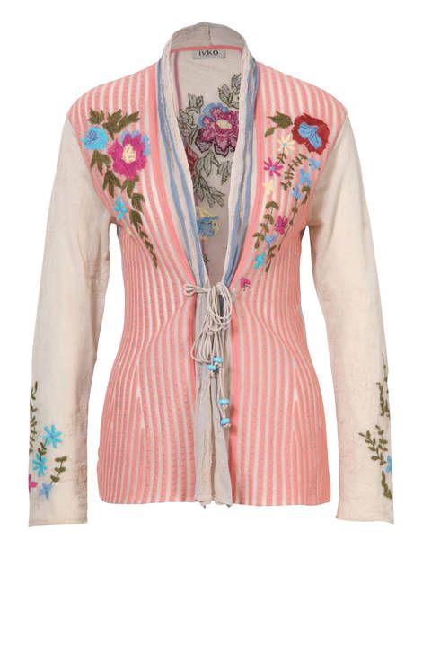 Cardigan Floral Embroidery - Cardigan | Ivko Woman