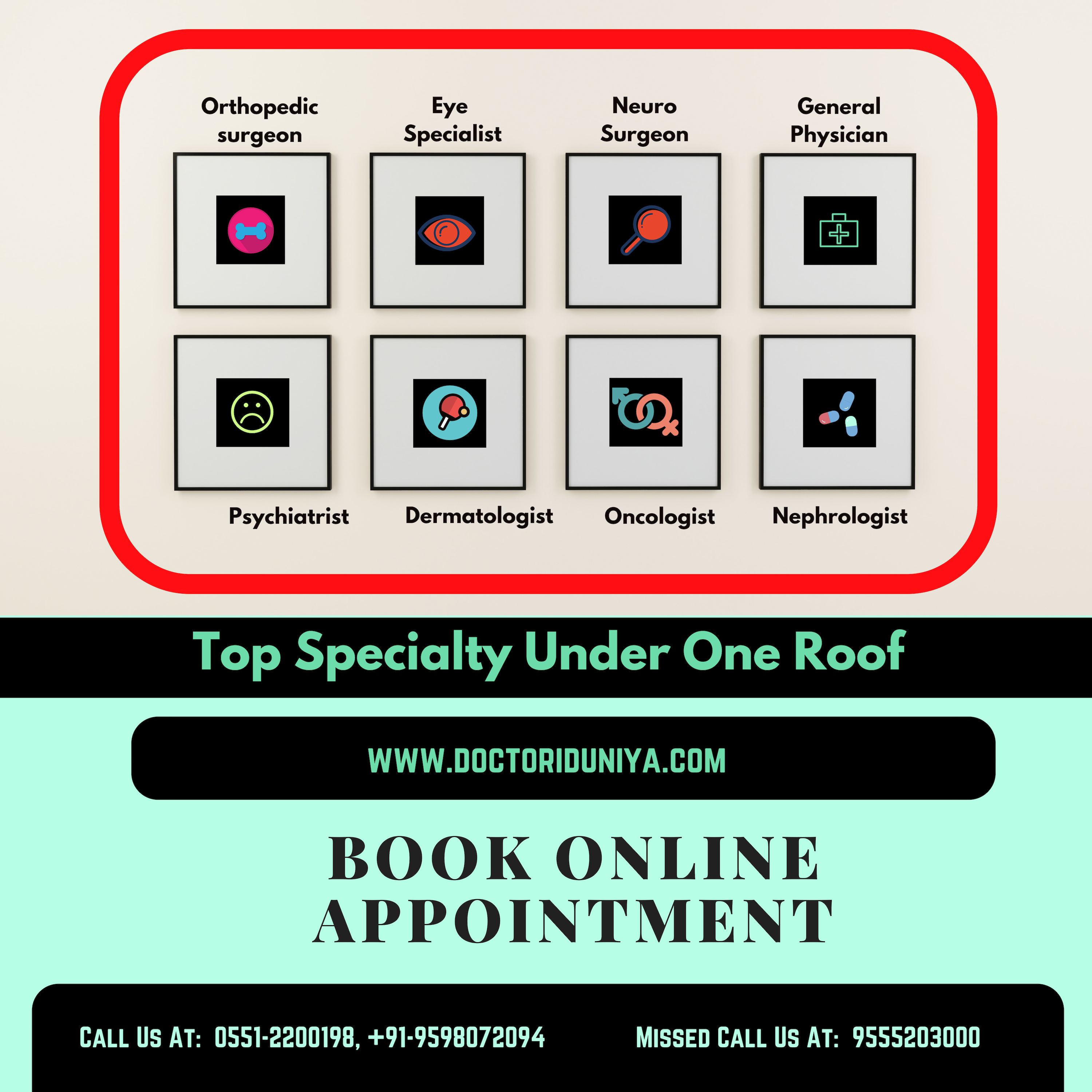 Top Specialty Under One Roof Book online appointment at