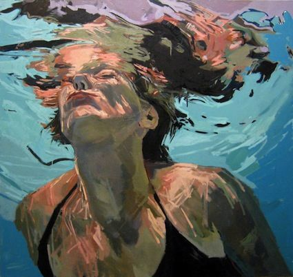 """Fall in; Emerge, 48x48"""", Oil on canvas, 2010  //  http://www.samanthafrench.com/paintings/new-paintings/"""