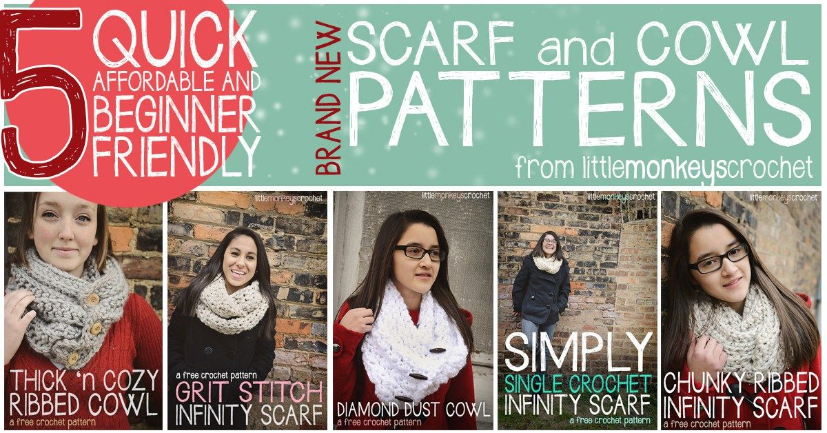 Click Here for 5 Quick, Affordable, Beginner Friendly Scarves and ...