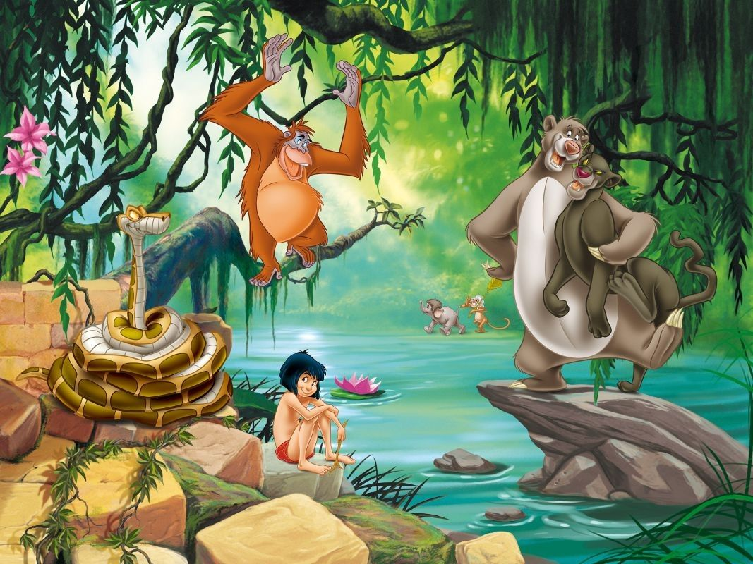 Bildergebnis Fur Dschungelbuch Jungle Mural Jungle Book Book Wallpaper