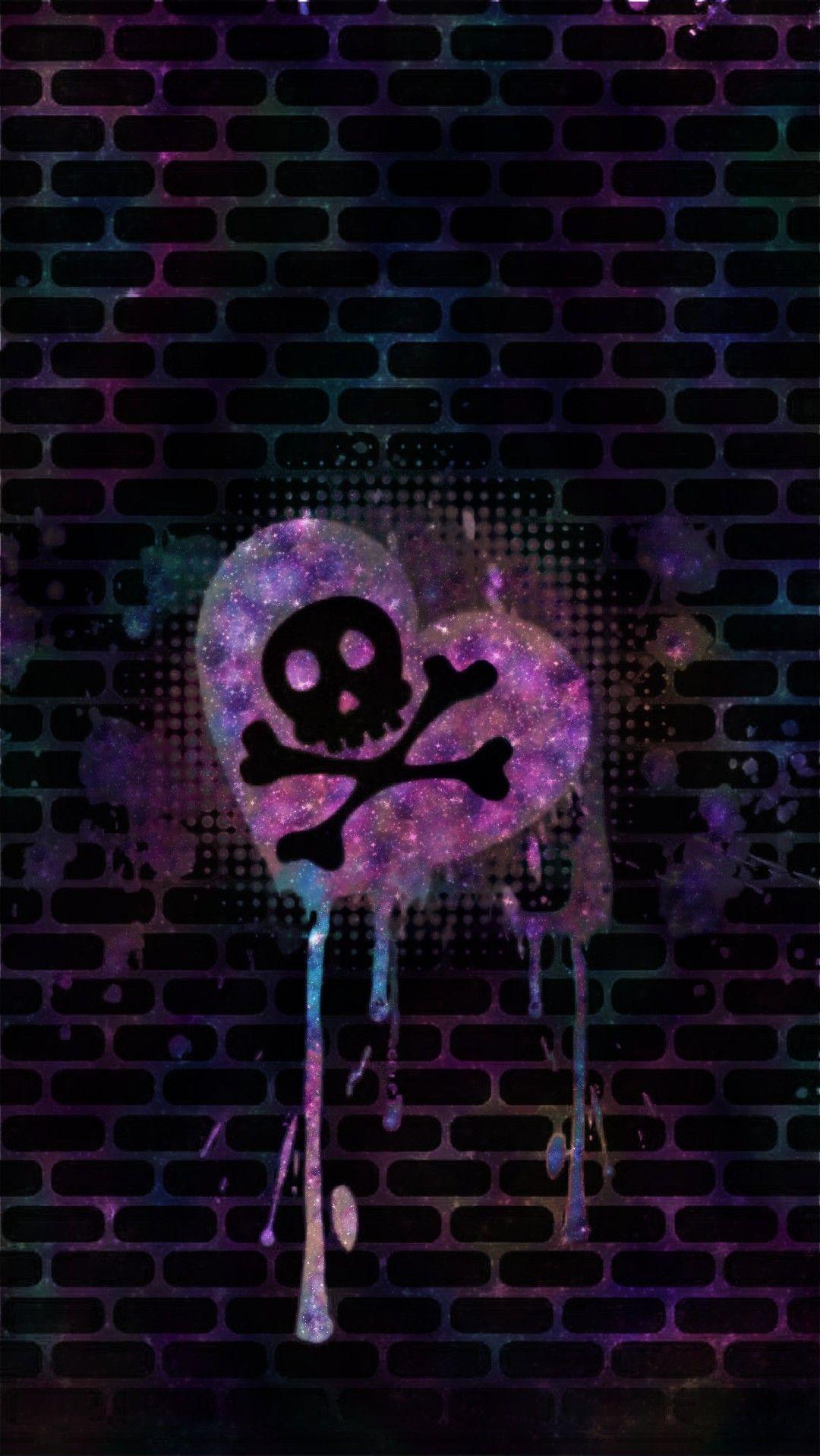 ac489dd06e1 Skull Graffiti Galaxy, made by me #patterns #colorful #glitter ...