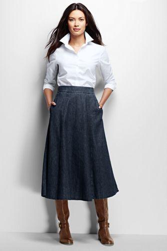 742878492a70a size 10 - Women s Boot Skirt - Denim from Lands  End