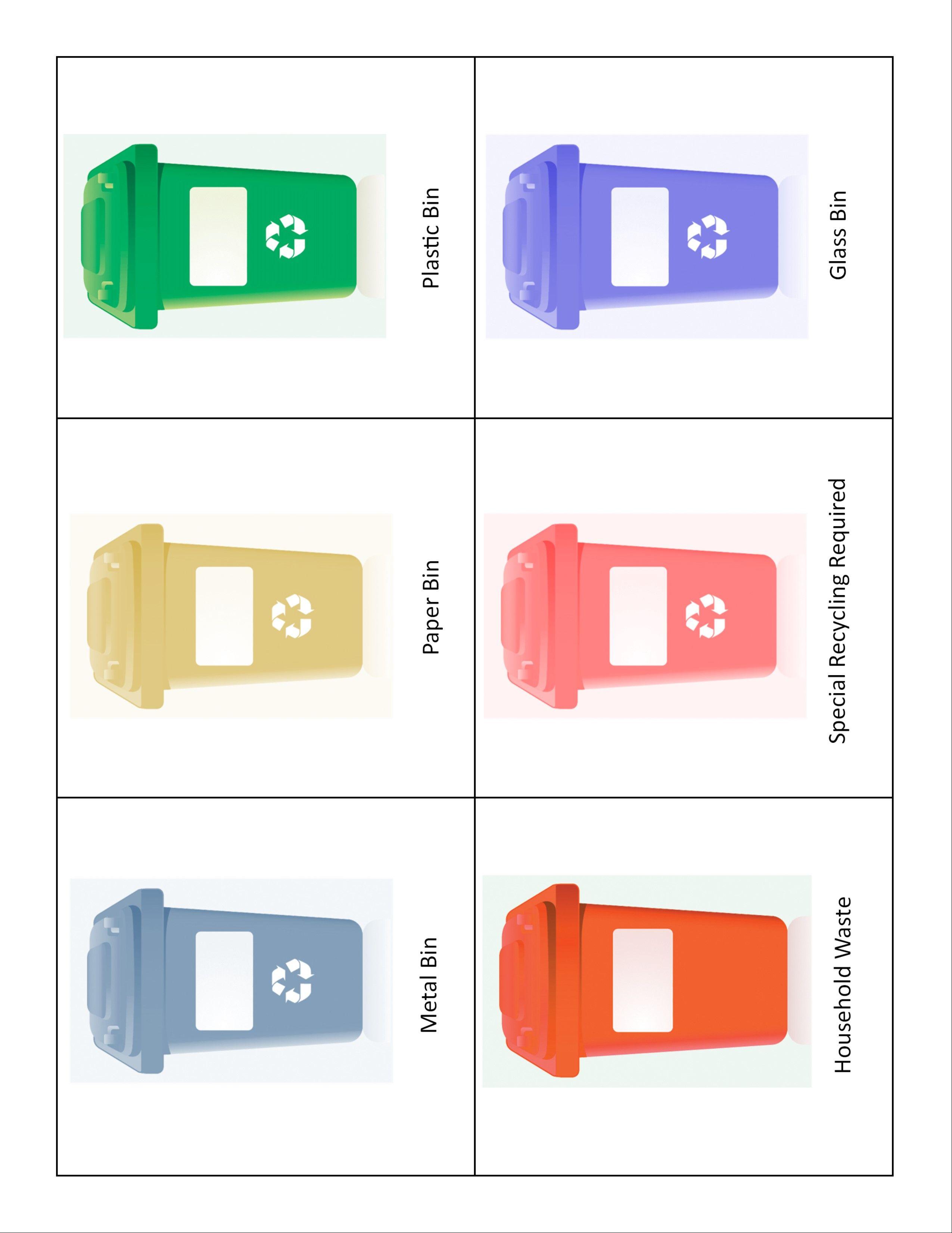 Printable Recycling Sorting Game
