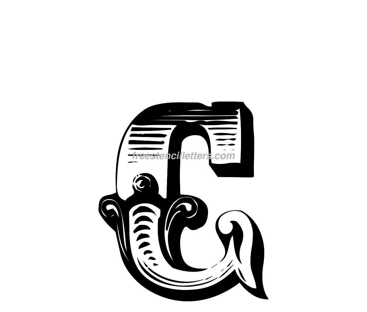 free stencils lettering