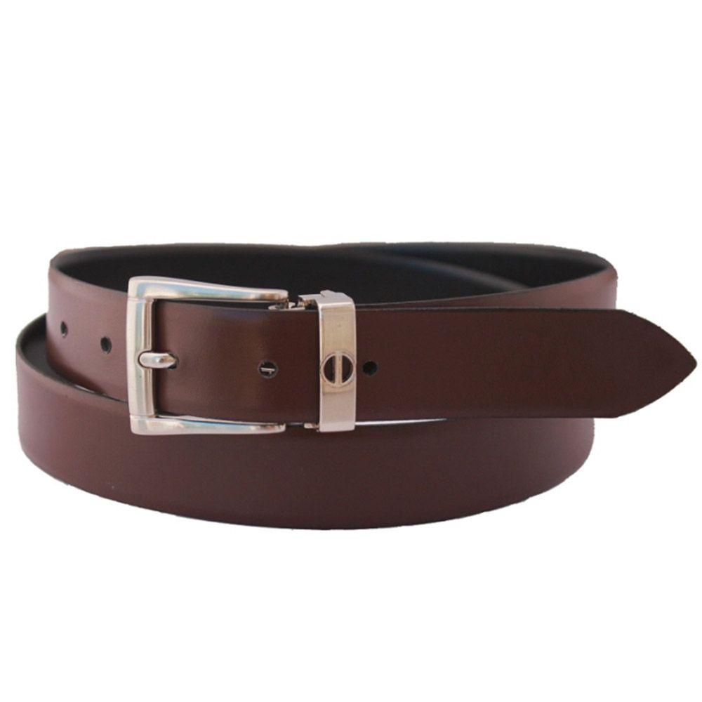 Designed in Britain and handmade in a small workshop in Andean north-west Argentina, our reversible genuine leather belt for men is constructed from two lengths of luxurious Grade 1 Argentine bridle hide.