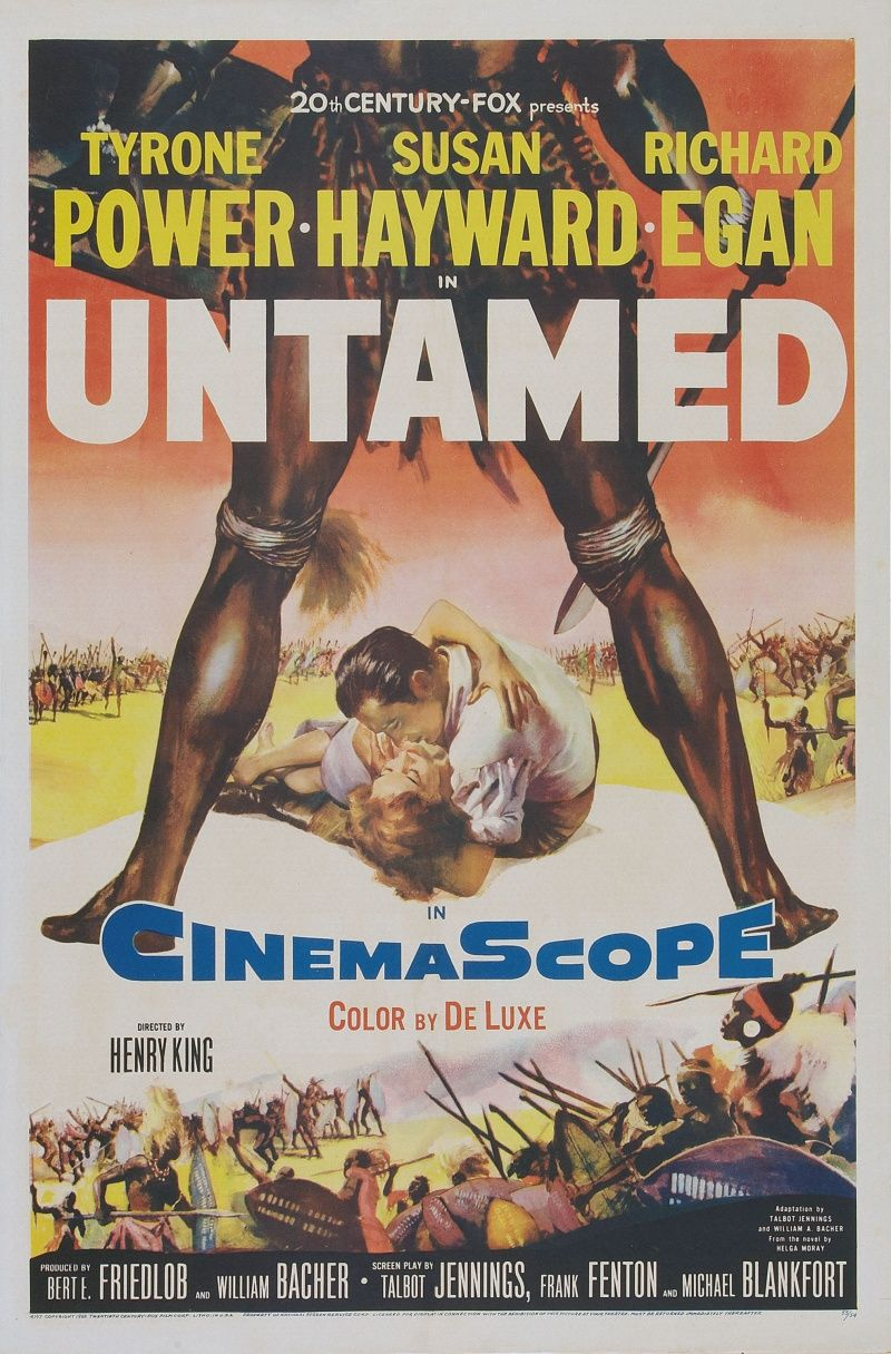 Untamed 1955 With Images Old Film Posters Movie Posters