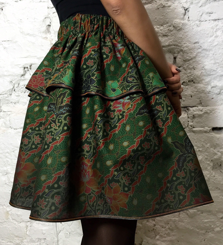 Designer double-layered Wild Flower skirt. Made of ethnic cotton.