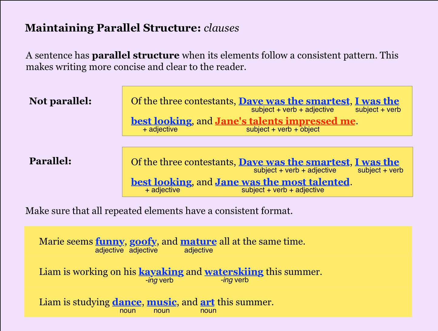 Parallel Structure   NoRedInk (Teacher)